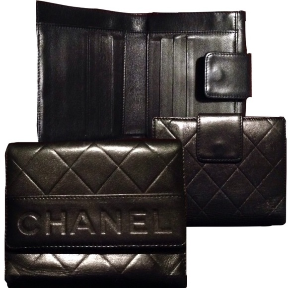 100f49748026 CHANEL Handbags - Authentic CHANEL Quilted Compact Leather Wallet